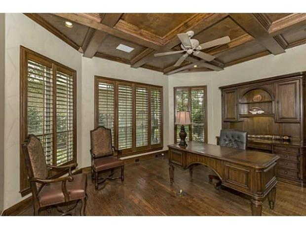 Large office or study off the living area with old world charm.