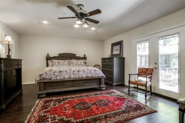 Master Bedroom.... wood floors, walk-in closets, french doors ac