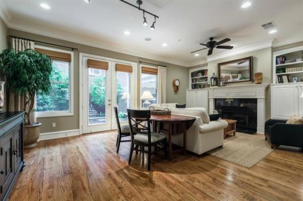Gorgeous Family Room with Built Ins Overlooking the Claffey Desi