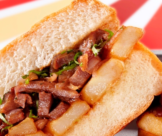 Cusco Torta with stir-fried steak and fries2