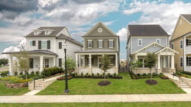 New construction craftsman style cottages at main street for Craftsman style homes dfw