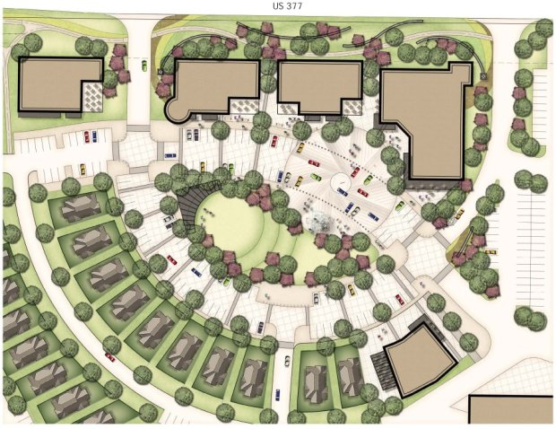 Waterbrook-Retail-Center-and-Village-Green-Concept